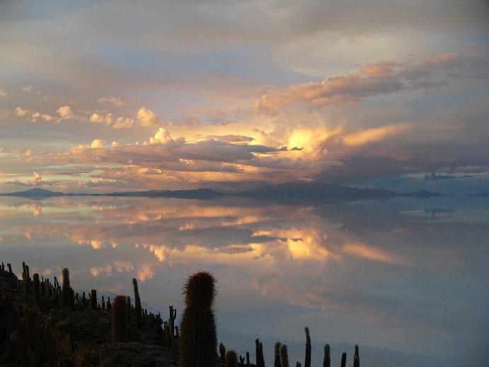 coucher de soleil isla de los pescadores